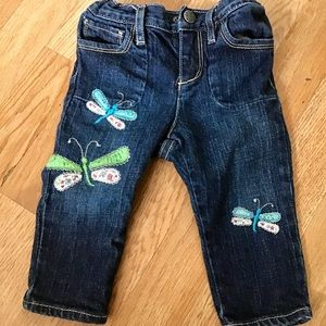 Baby Gap jeans with embroidered fireflies.
